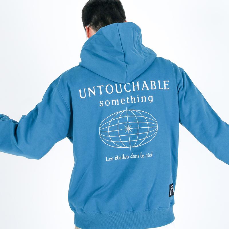 (UNISEX)950g Heavy Untouchable Hoodie(CYAN)