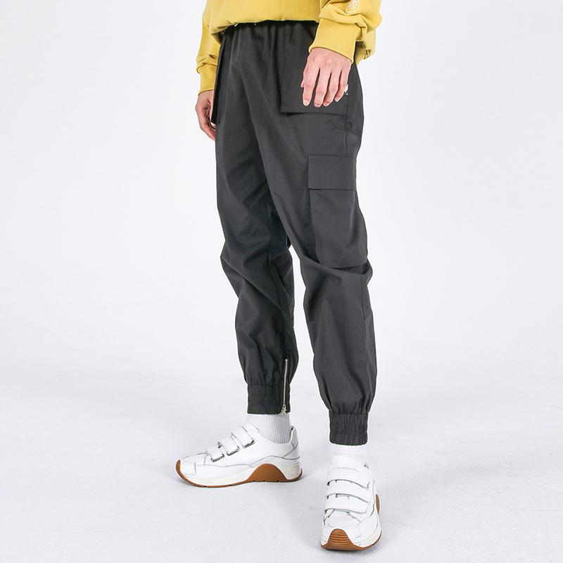Mild Eazy Zip-up Cargo-Jogger Pants(CHARCOAL)