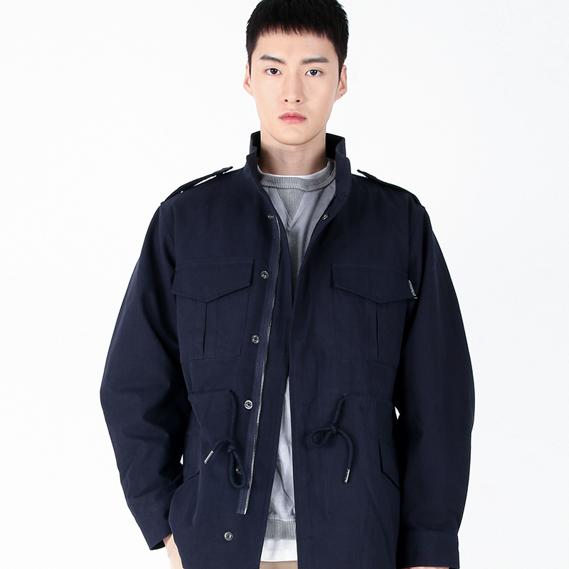 (UNISEX)Safari Multi Field Jacket(NAVY)