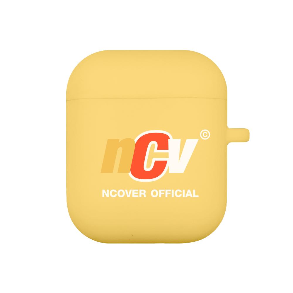 Color ncv logo case-yellow(airpods case)