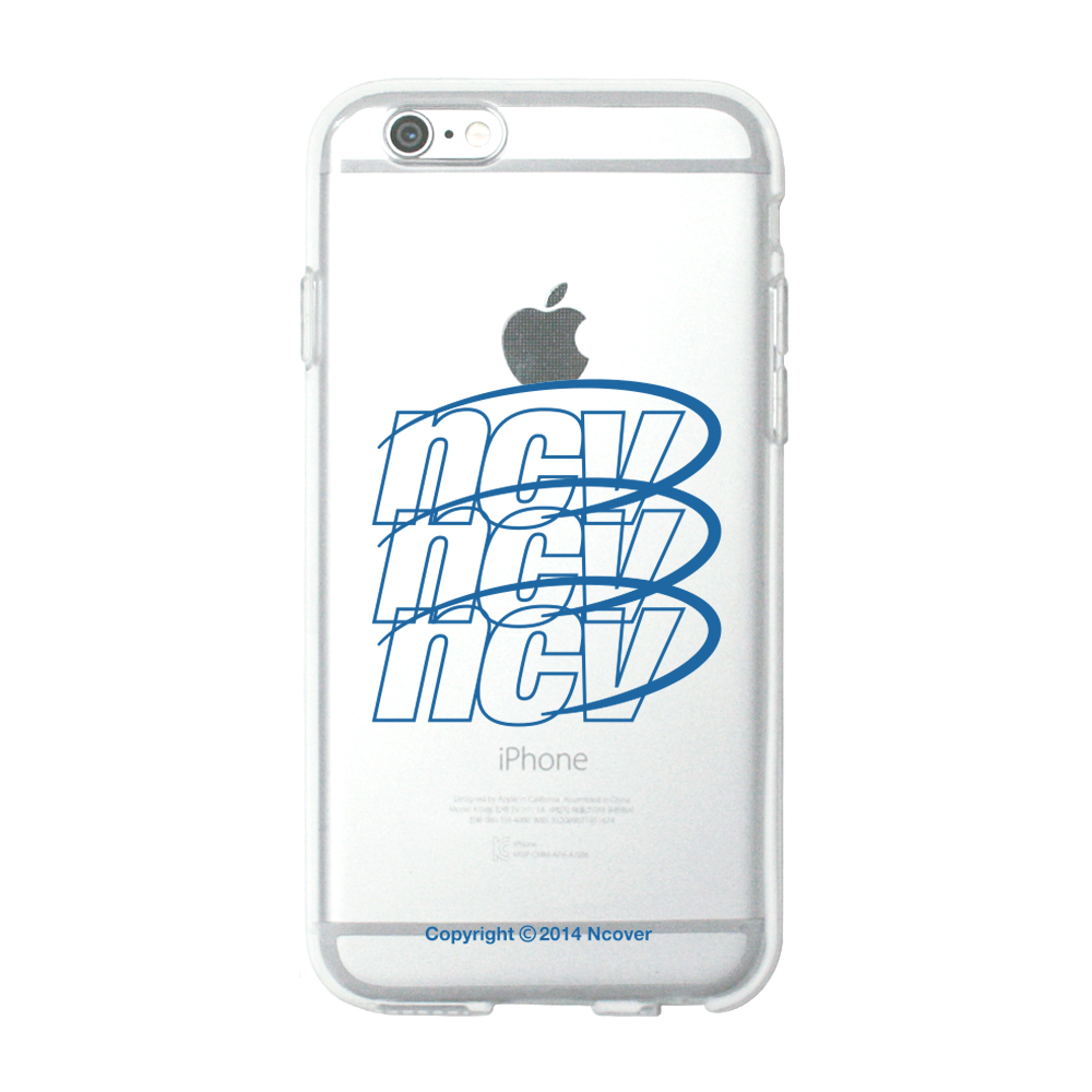 Triple ncv logo case-blue(jelly case)