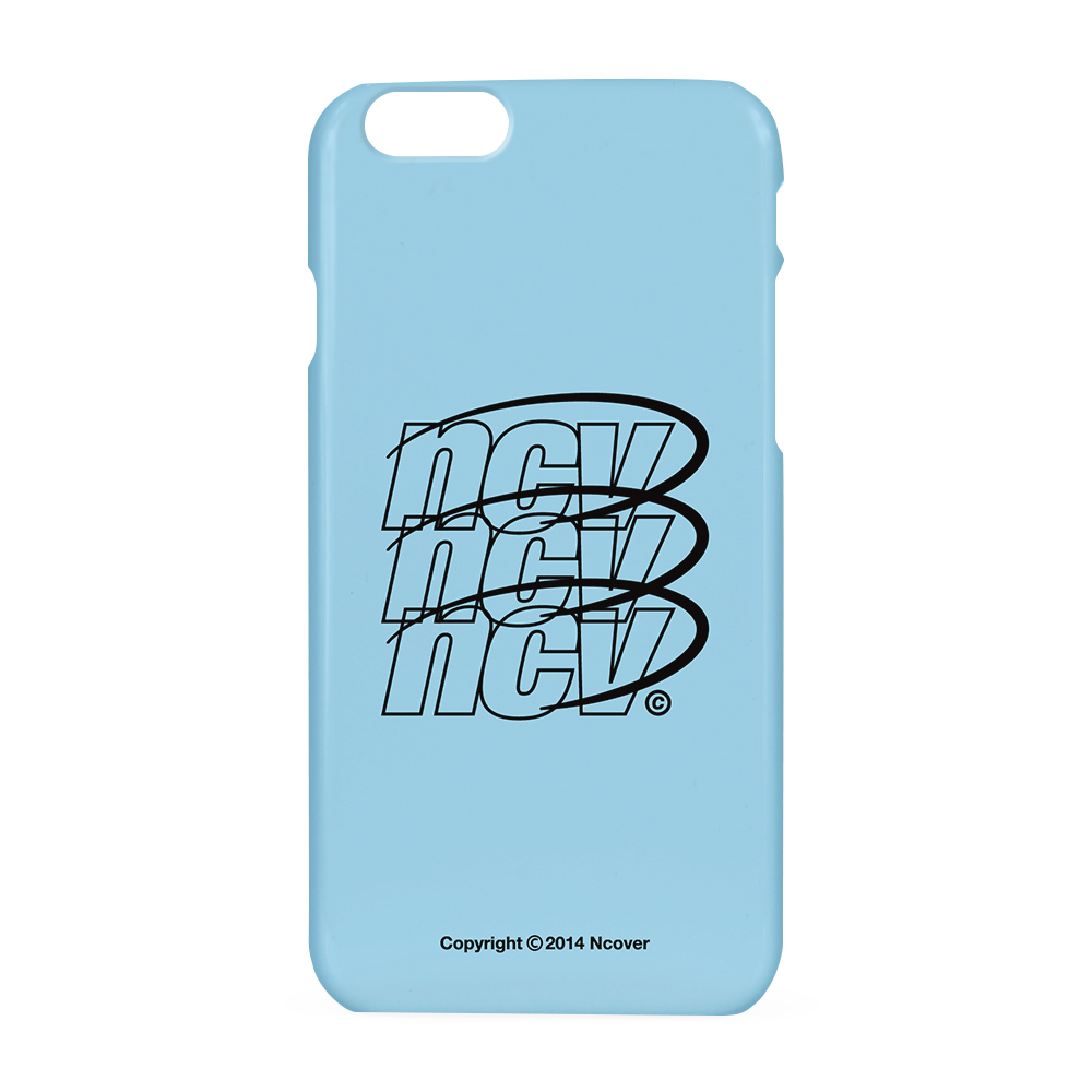 Triple NCV logo case-sky blue
