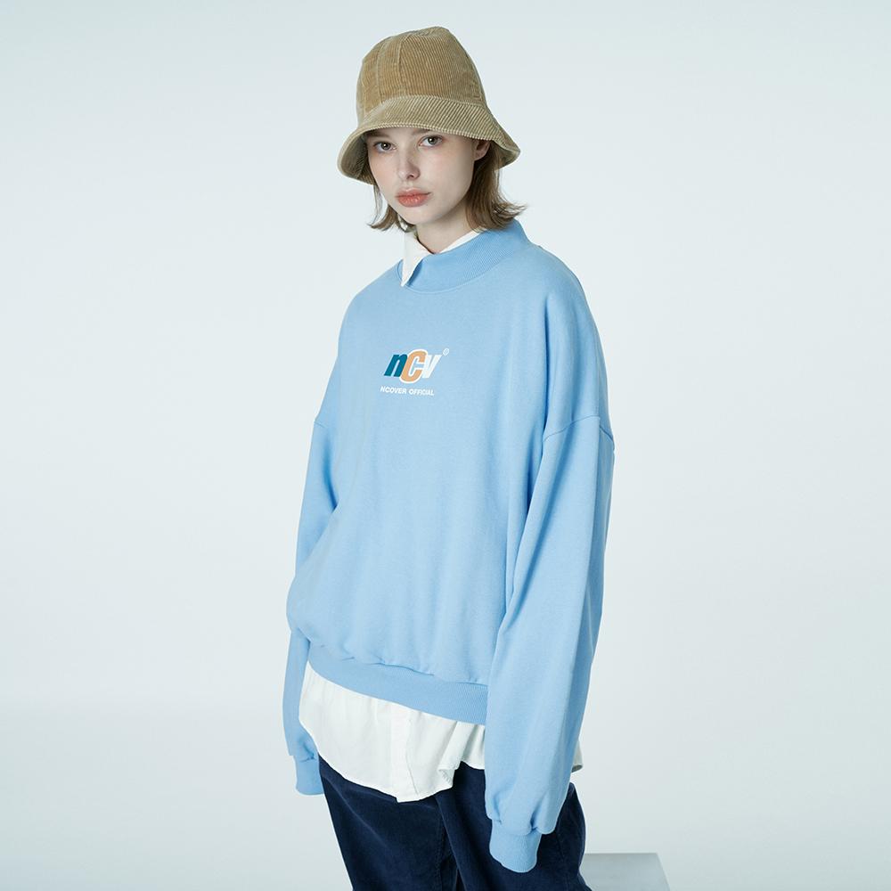 Crewneck ncv sweatshirt-sky blue