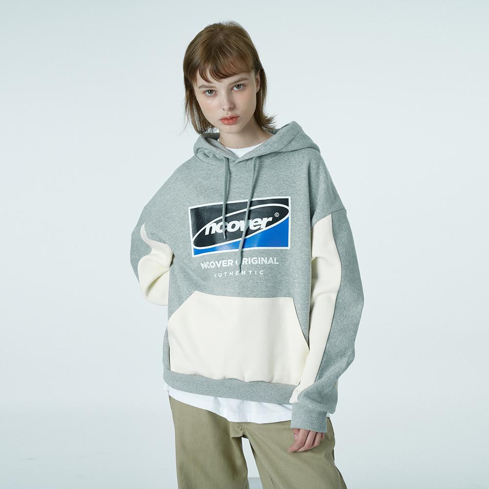 Big Square logo hoodie-grey