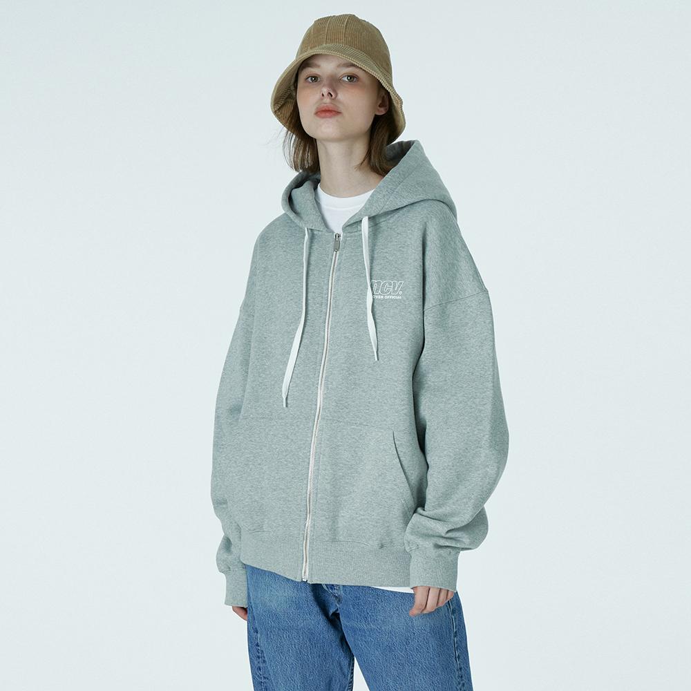 Ncv logo hoodie zipup-grey