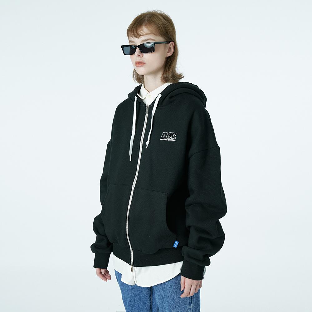 Ncv logo hoodie zipup-black