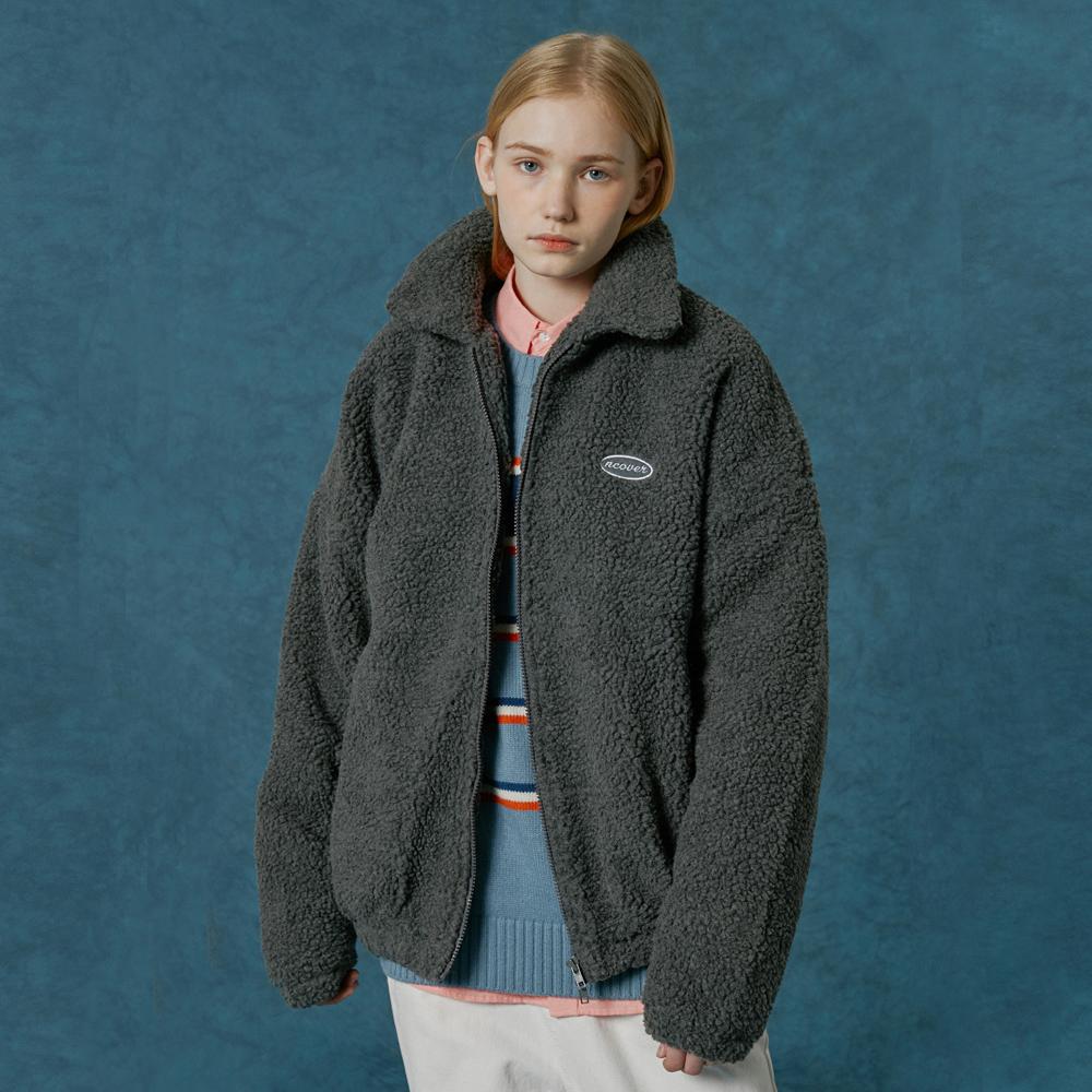 Original embroidery fleece jacket-grey
