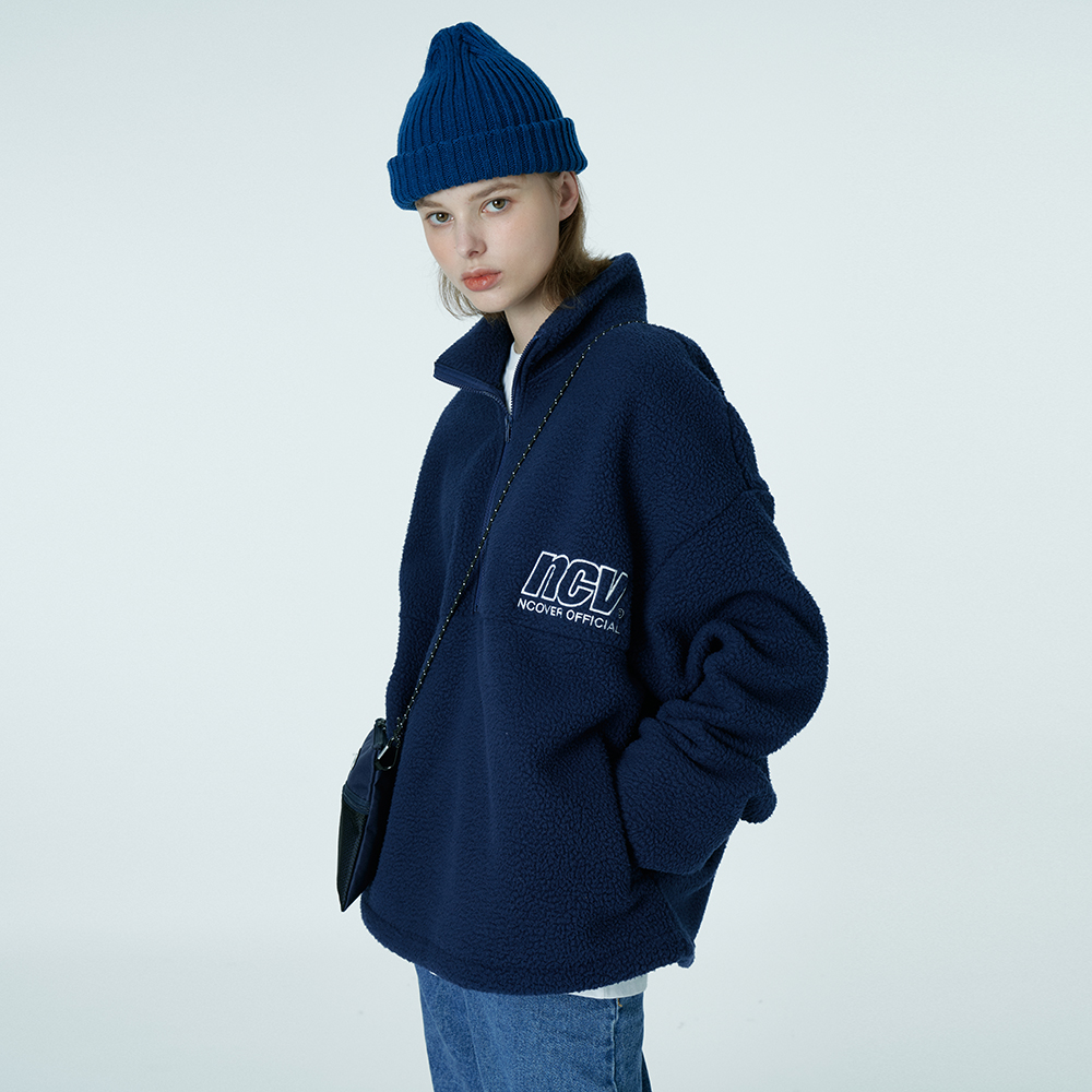 NCV embroidery anorak-navy