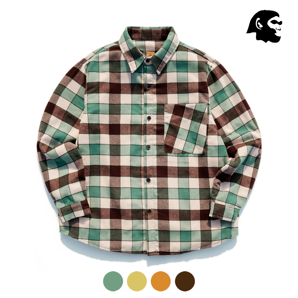 [퍼스텝] 더블 크라운 기모 셔츠 4종 SMLS4326