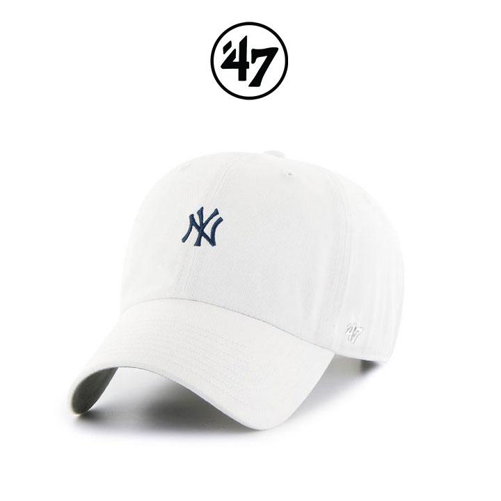 [국내배송]47브랜드 볼캡 모자 NY양키스 화이트(WH)