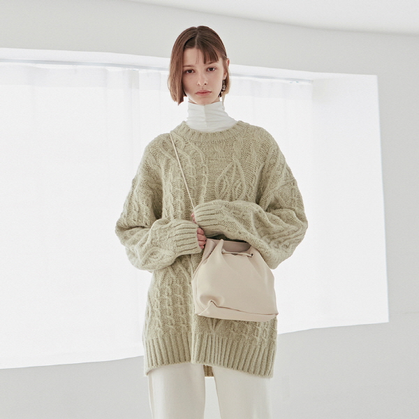 CABLE OVER SWEATER_MINT