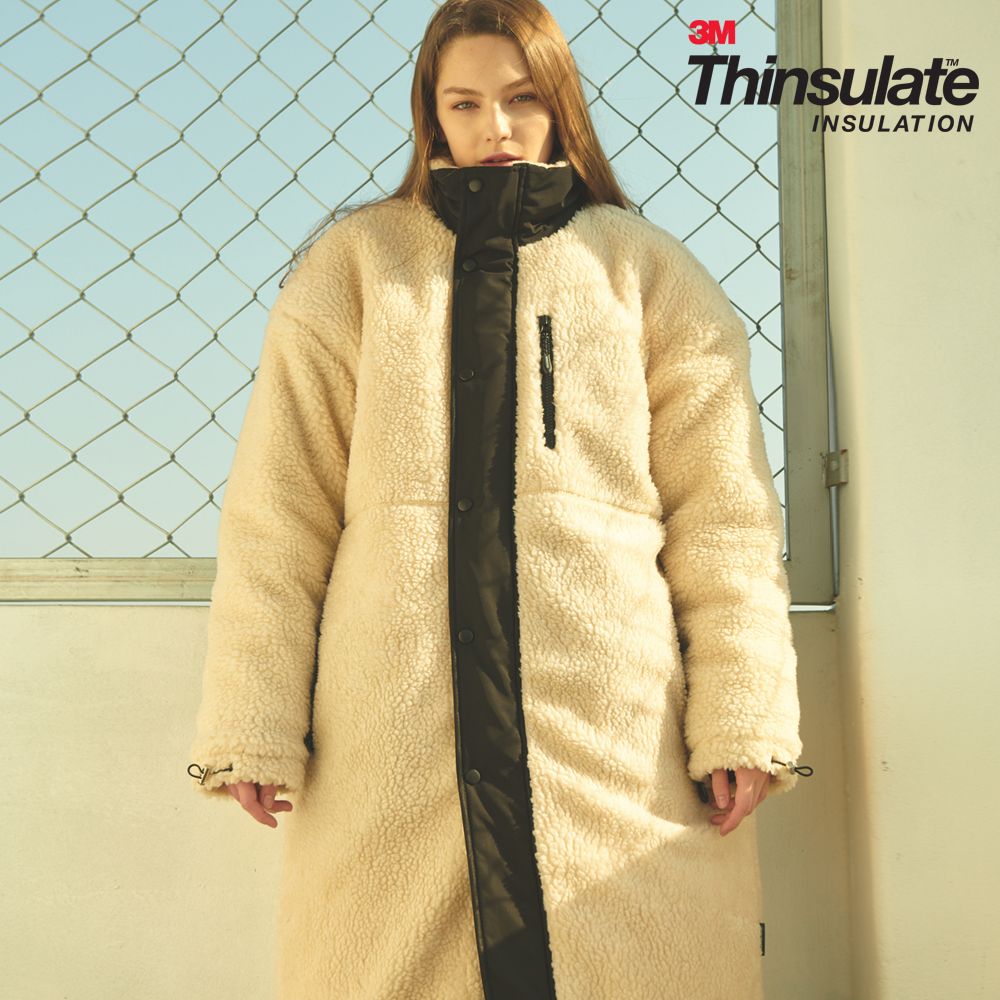 UNISEX OVERFIT 3M THINSULATE FLEECE LONG JUMPER IVORY