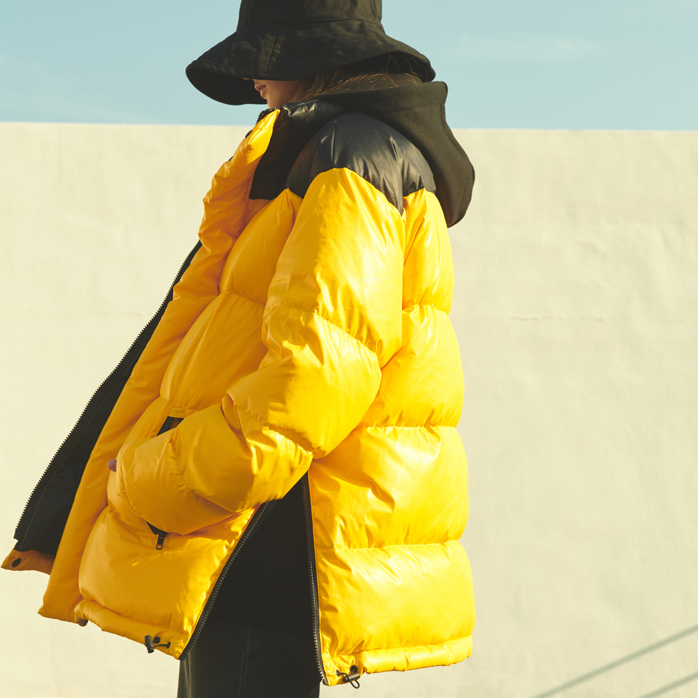 UNISEX OVERFIT DUCKDOWN CONTRAST PADDING YELLOW