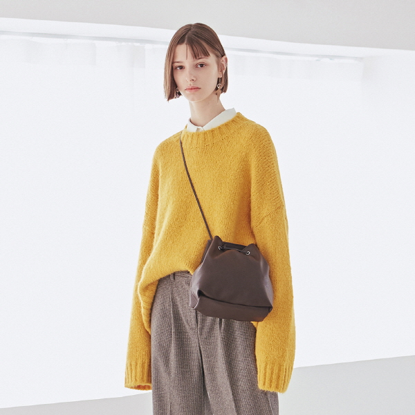 WOOL STAND SWEATER_MUSTARD