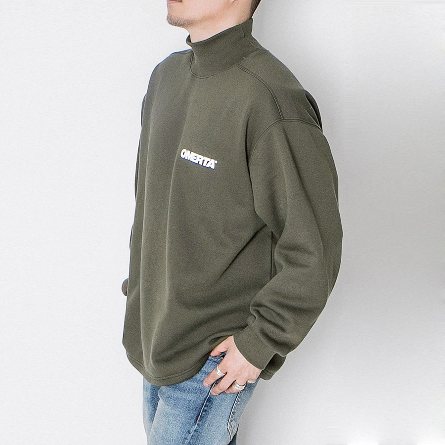 오메르타 2019FW Over Fit Turtleneck Military Green