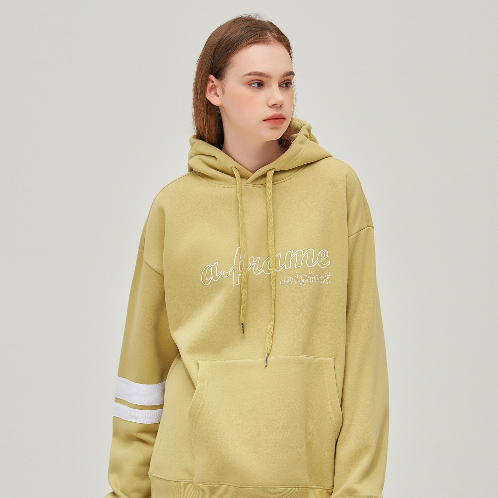 OUTLINE LOGO HOODIE (OLIVE GREEN)
