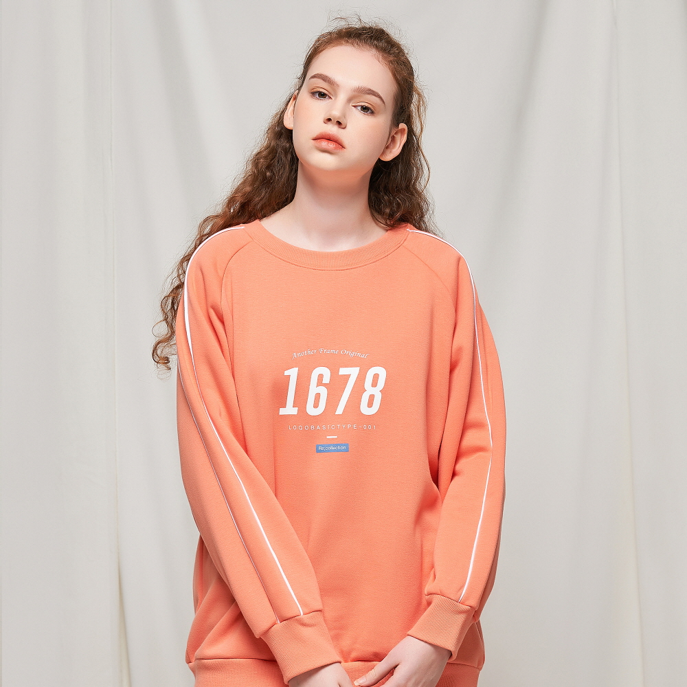1678 LINE RUGBY CREWNECK (LIVING CORAL)