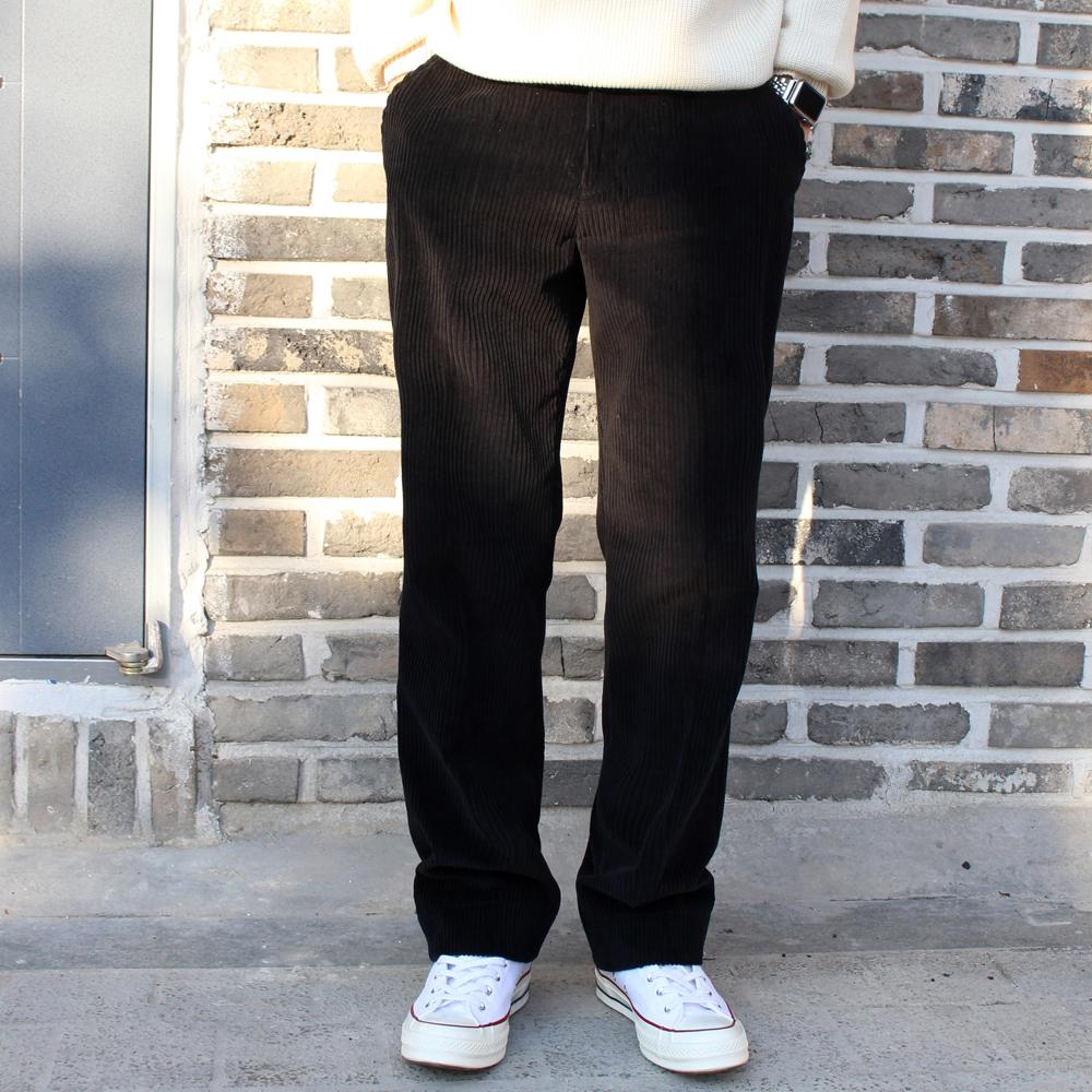 UNISEX WIDEFIT CORDUROY PANTS BLACK