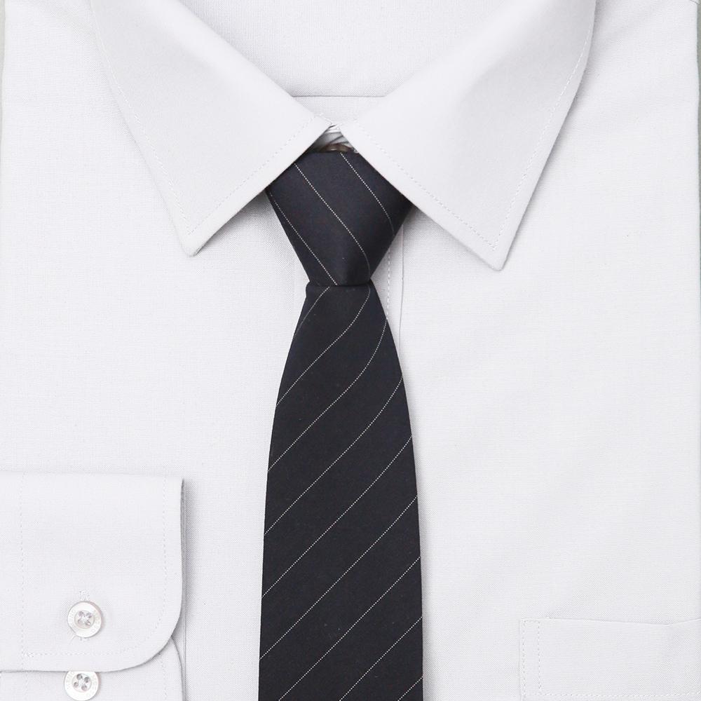 남자 네이비 스트라이프 자동 면접 넥타이