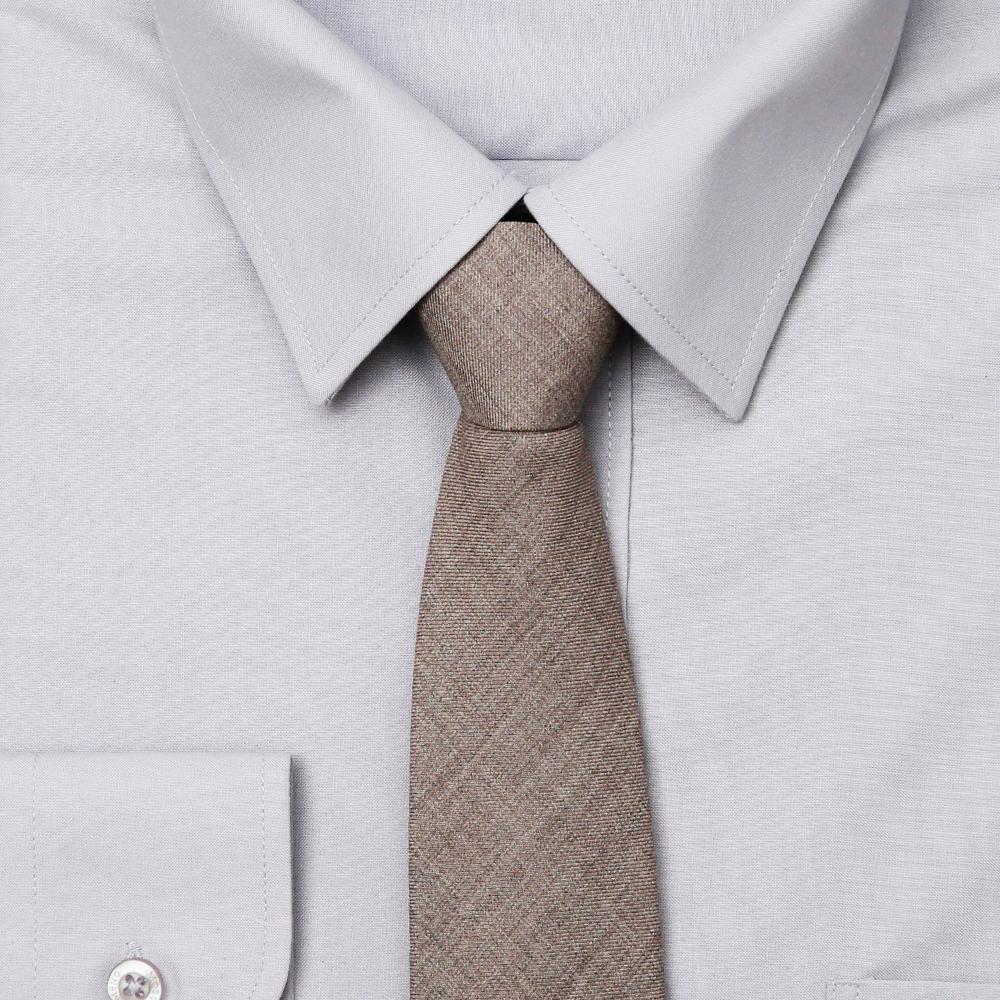 남자 라이트 그레이 슬림 자동 면접 넥타이