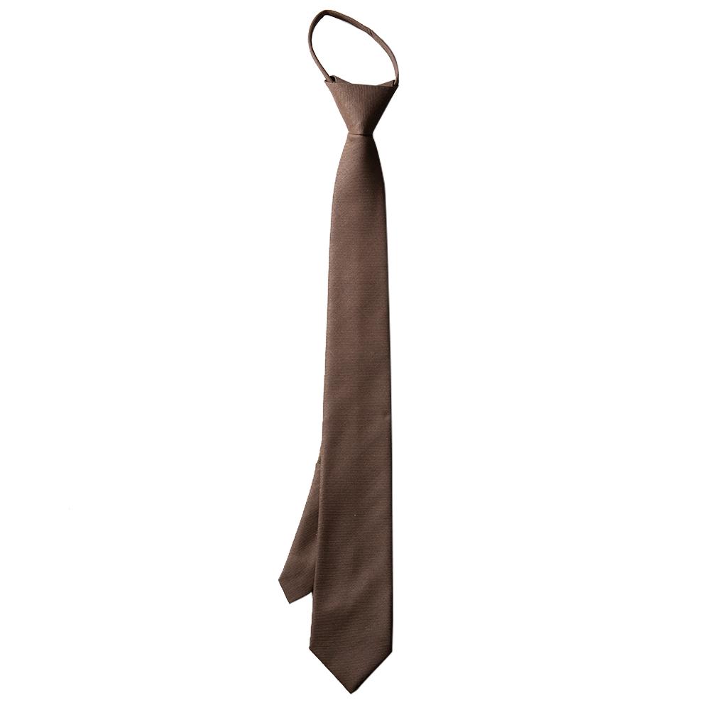 남자 브라운 슬림 자동 면접 넥타이