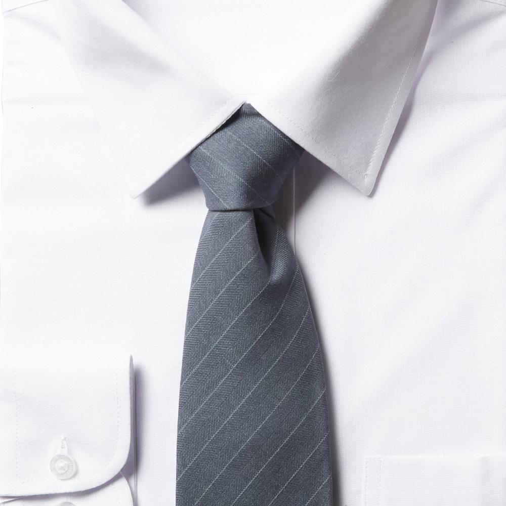 남자 스트라이프 라이트 블루 넥타이