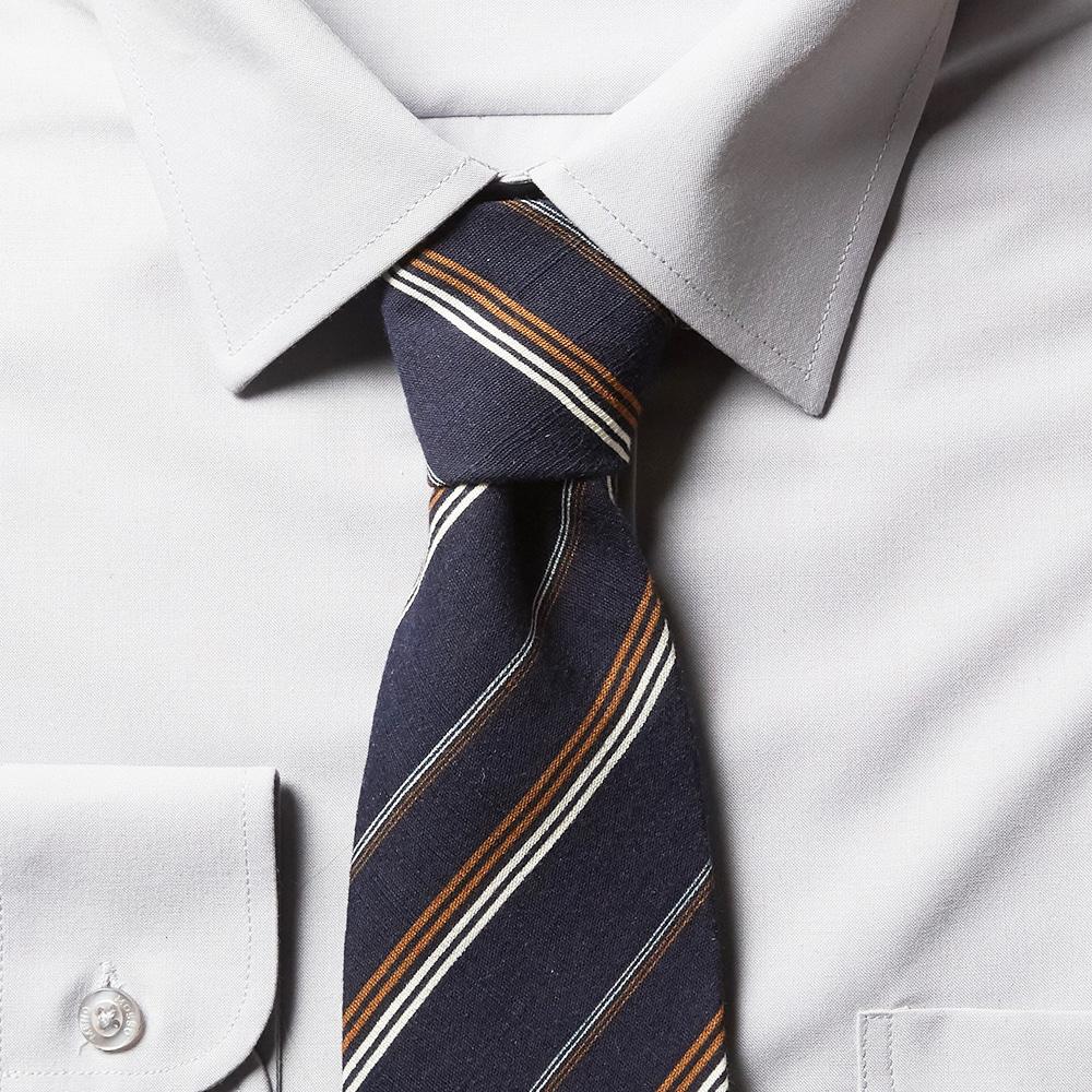 남자 스트라이프 블루2 면 넥타이