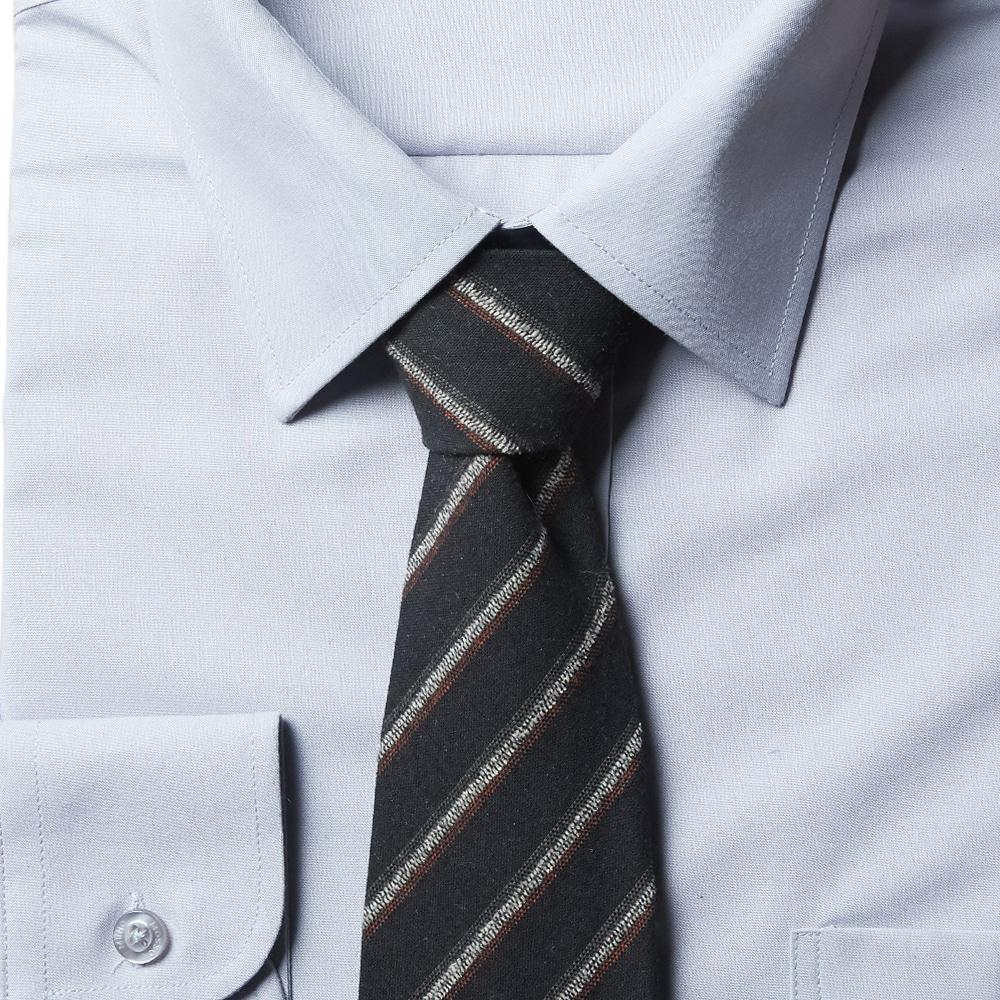 남자 스트라이프 블랙 면 넥타이