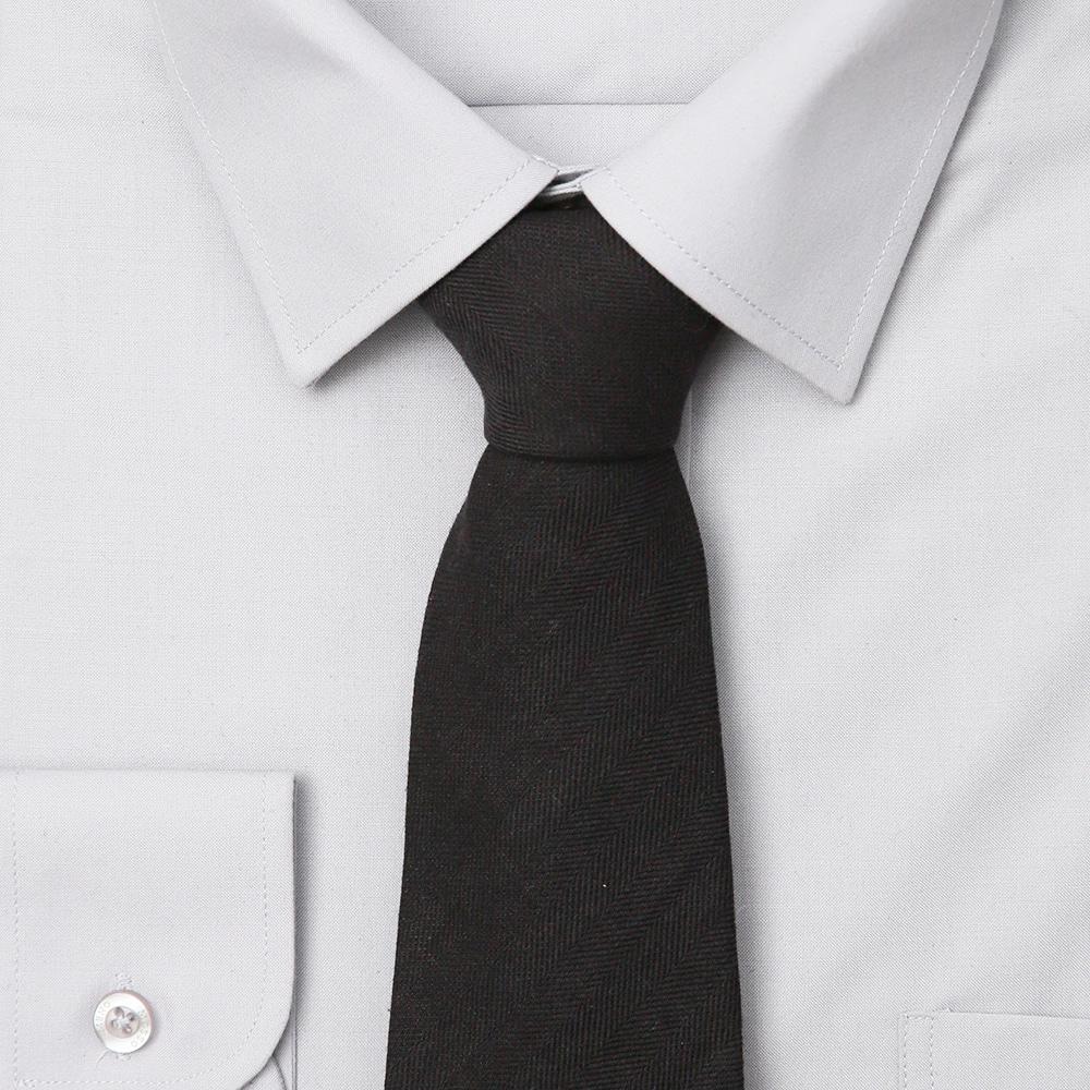 남자 면 블랙 넥타이