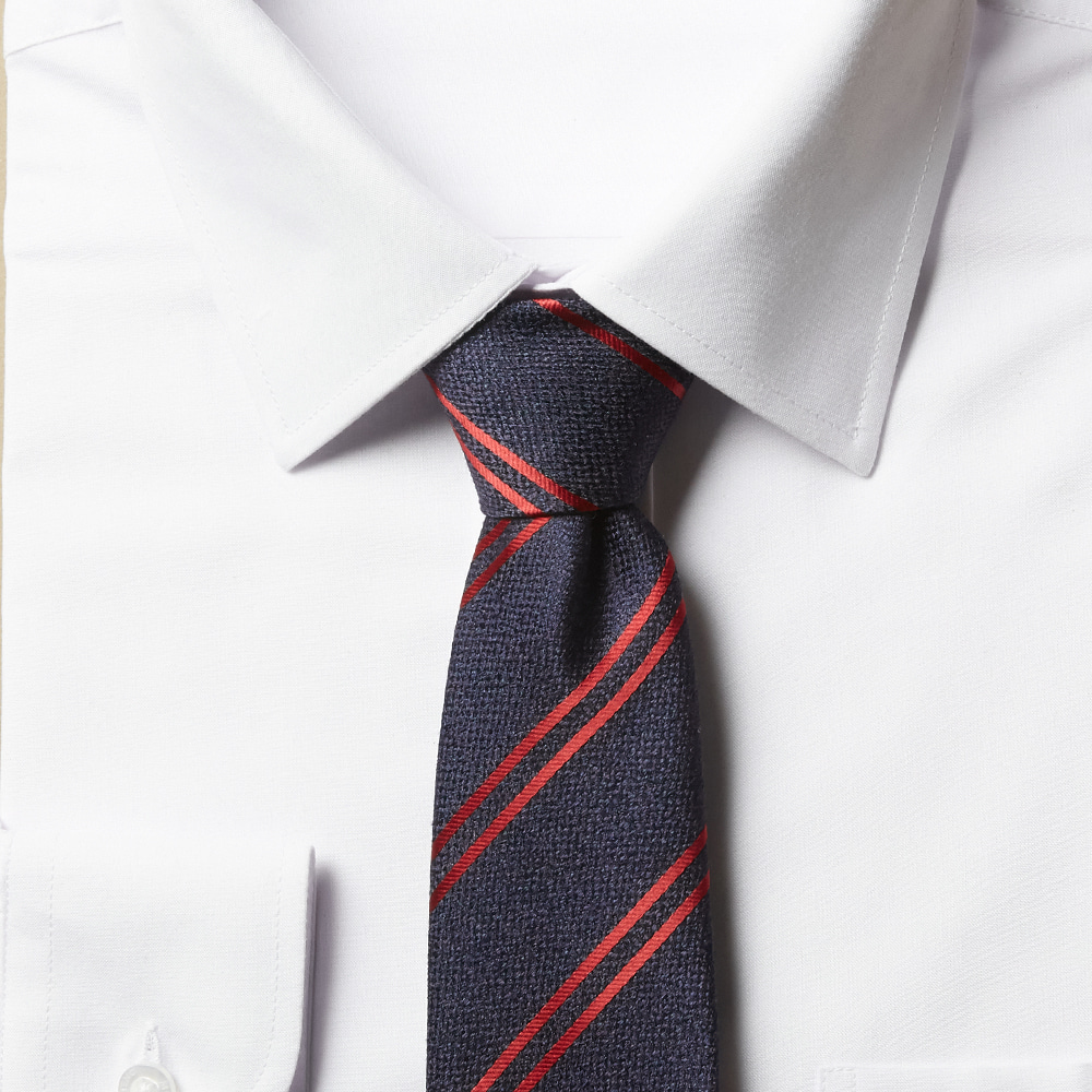 남자 스트라이프 네이비2 슬림 넥타이