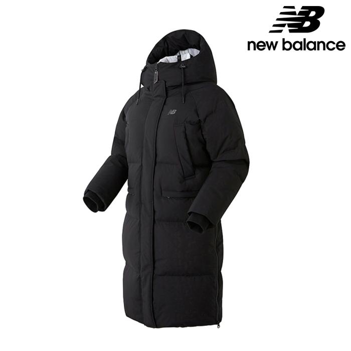 뉴발란스 NBNP84W022-BK 여성 연아 코쿤핏 구스 롱다운 패딩 자켓