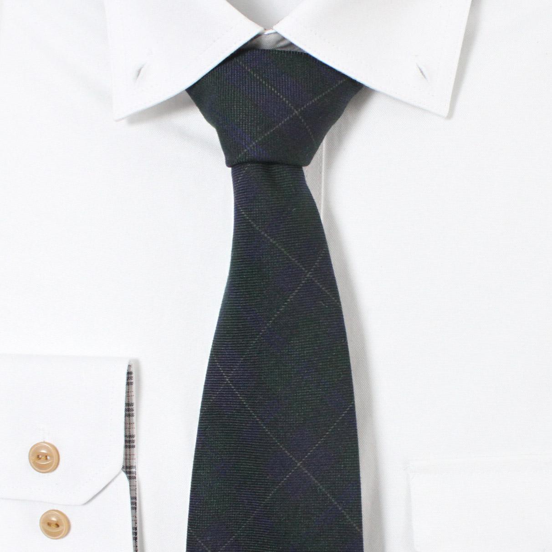 남자 블루그린 체크 넥타이