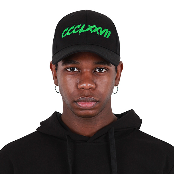 [377] HARDER LINE CAP BLACK/GREEN