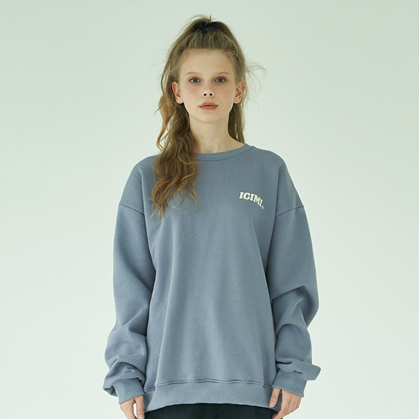 19 Basic Logo Sweatshirts_Slate Blue