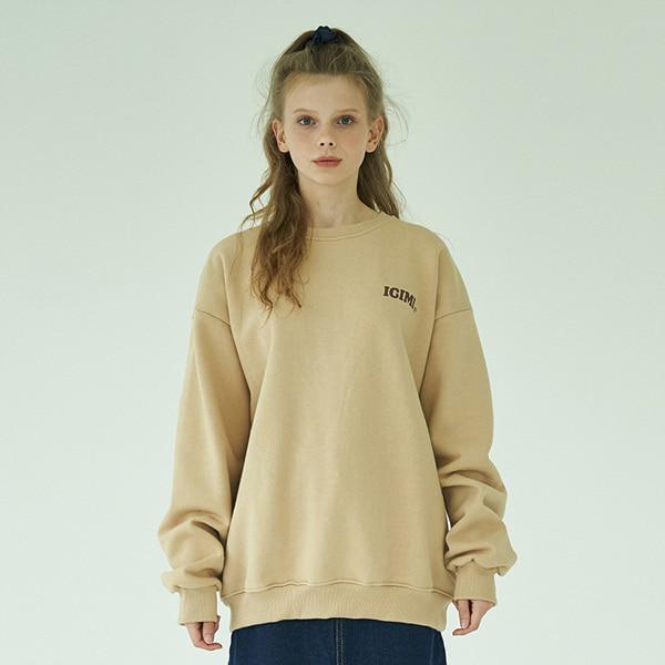 19 Basic Logo Sweatshirts_Desert Beige