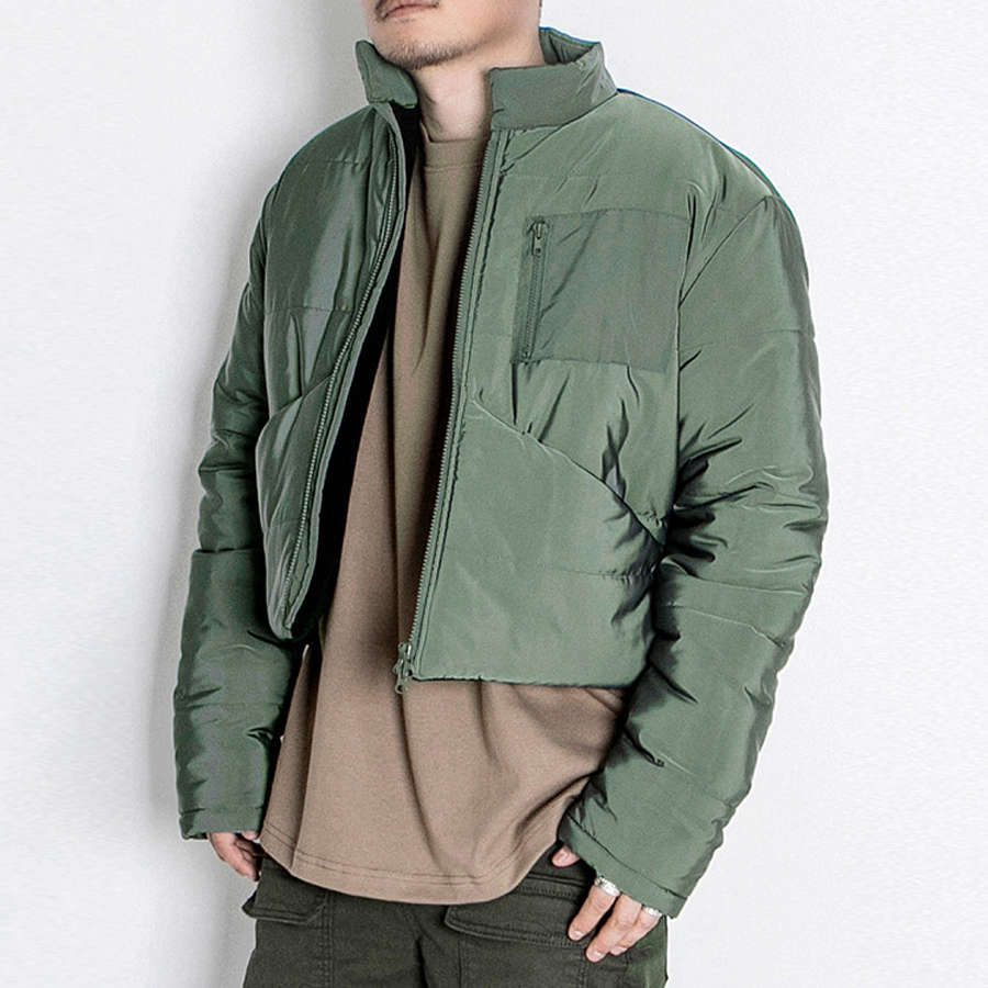 오메르타 2019FW Crop Bomber Military Green