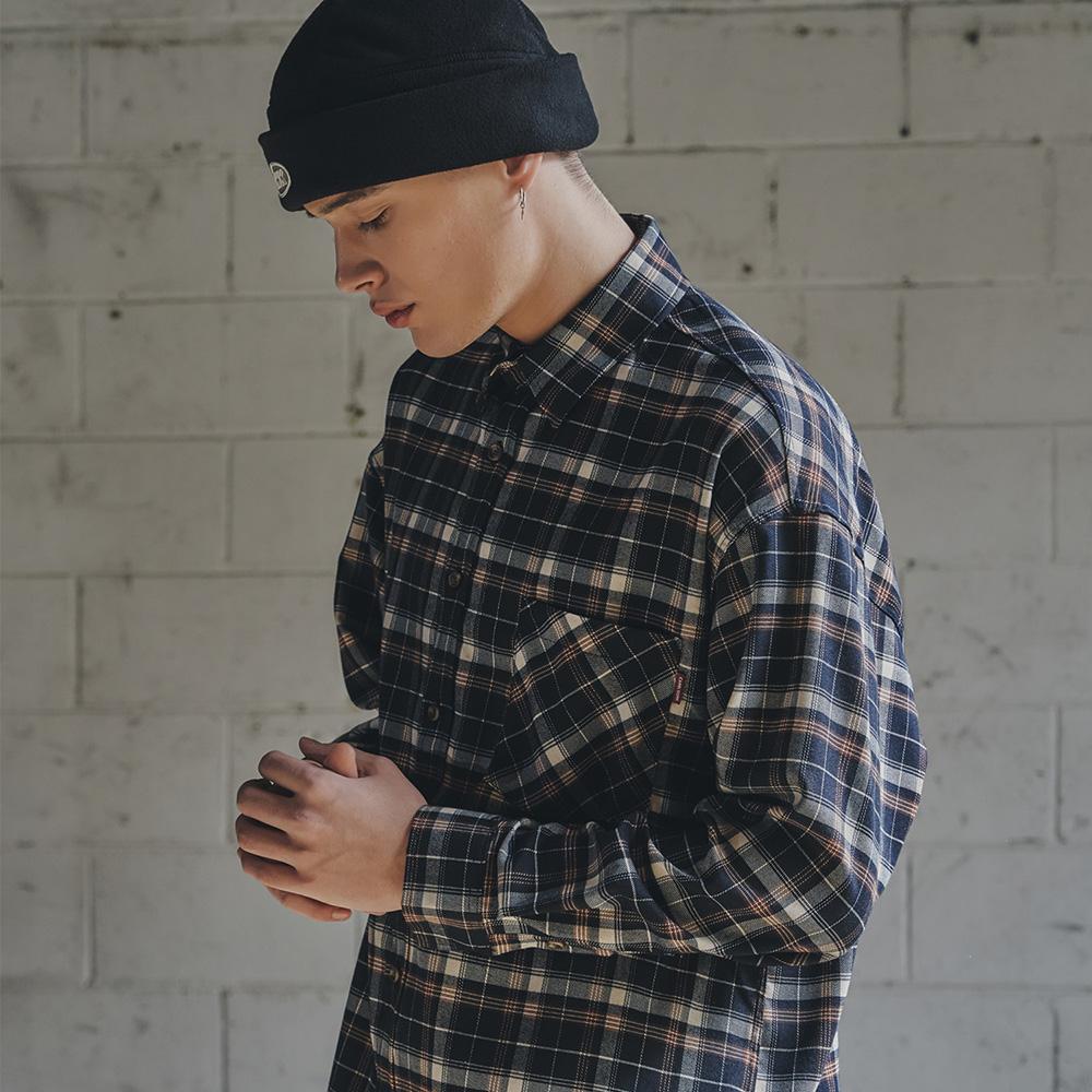 Check Shirts(Navy) CW16