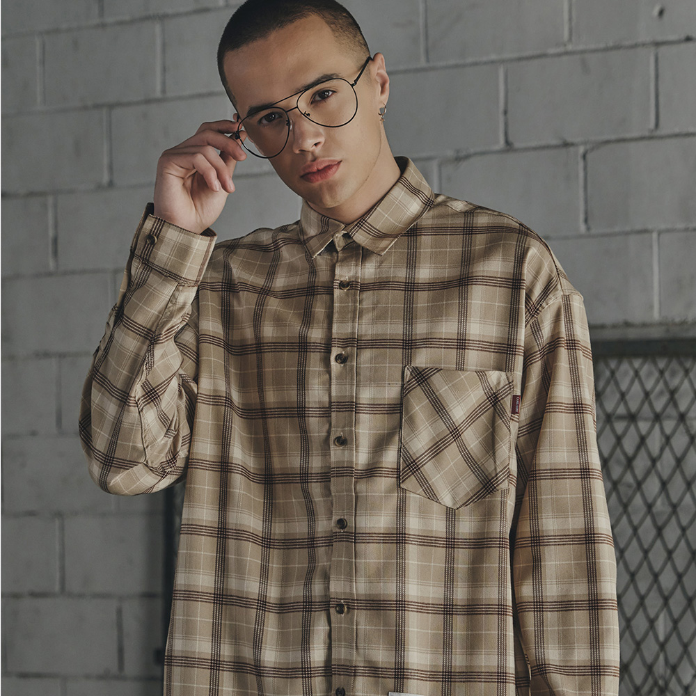 Check Shirts(Beige) CW16