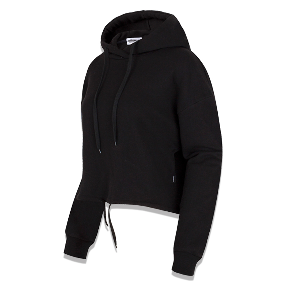[COVERMENT] Standard Over-Fit Crop Hoodie_Black