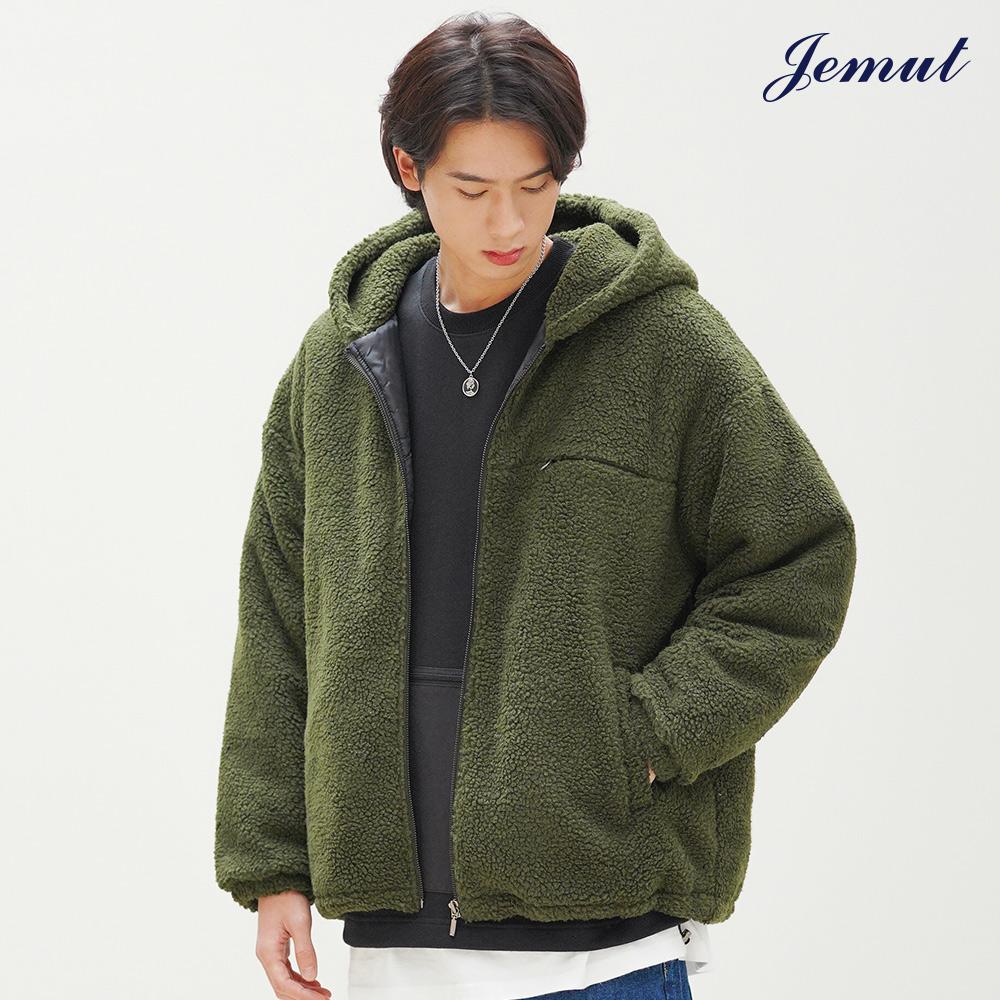 [제멋] 모스트 양털 후드 자켓 카키 JMOT2262