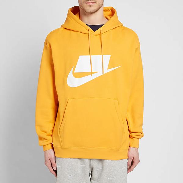 [해외]나이키 NSW 후드 티셔츠 오렌지