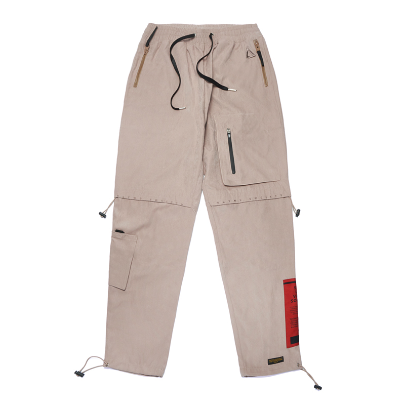 STIGMA WASHED TECH JOGGER PANTS BEIGE