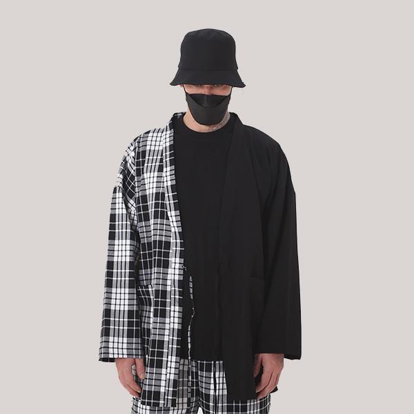 [단독벨트증정] ROCKPSYCHO 2019 FW Tartan Check Robe / 락사이코 타탄체크 로브