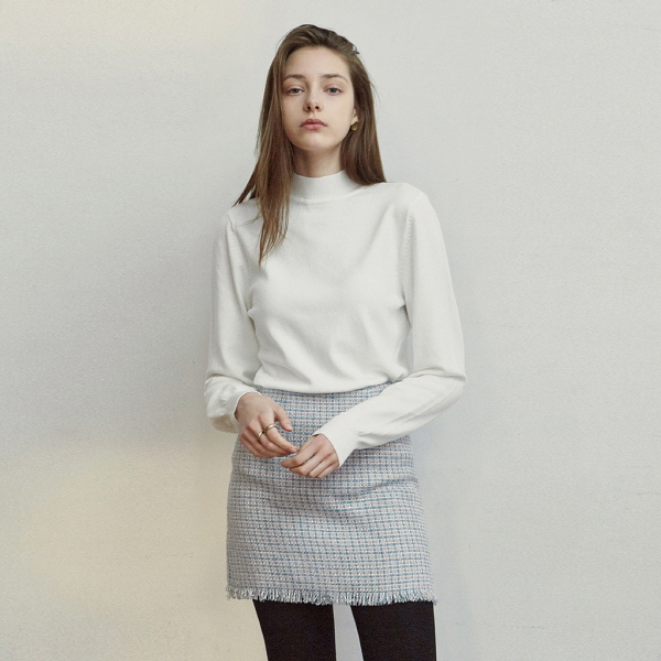 STAND HALF LONG KNIT_IVORY