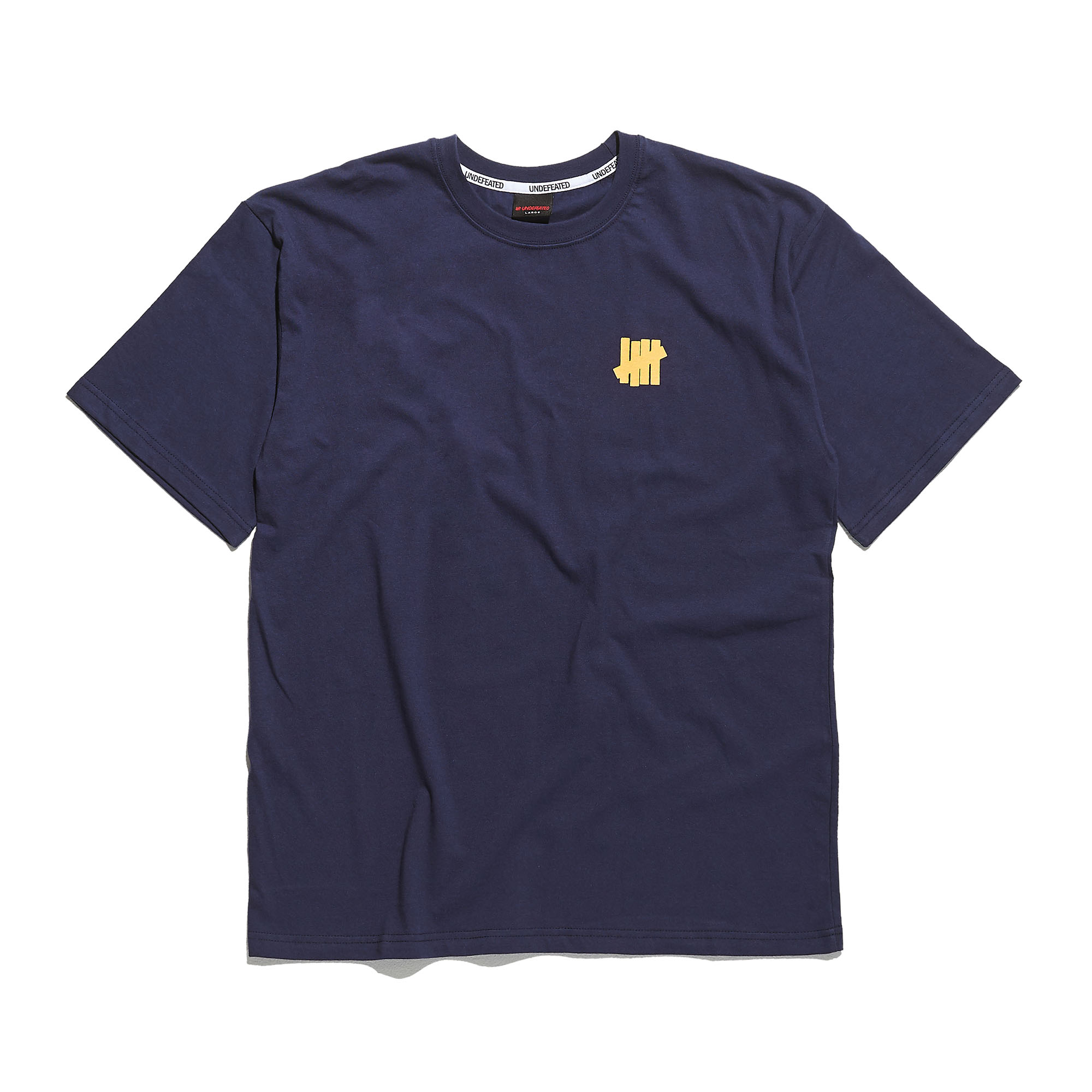 YELLOW LOGO TEE navy