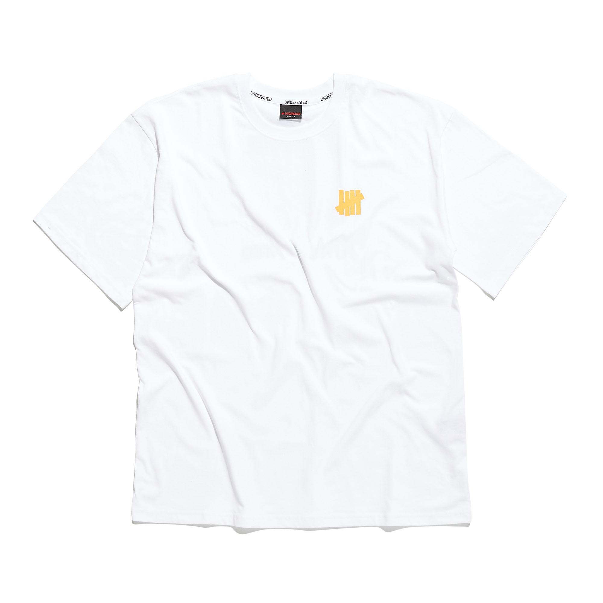 YELLOW LOGO TEE white