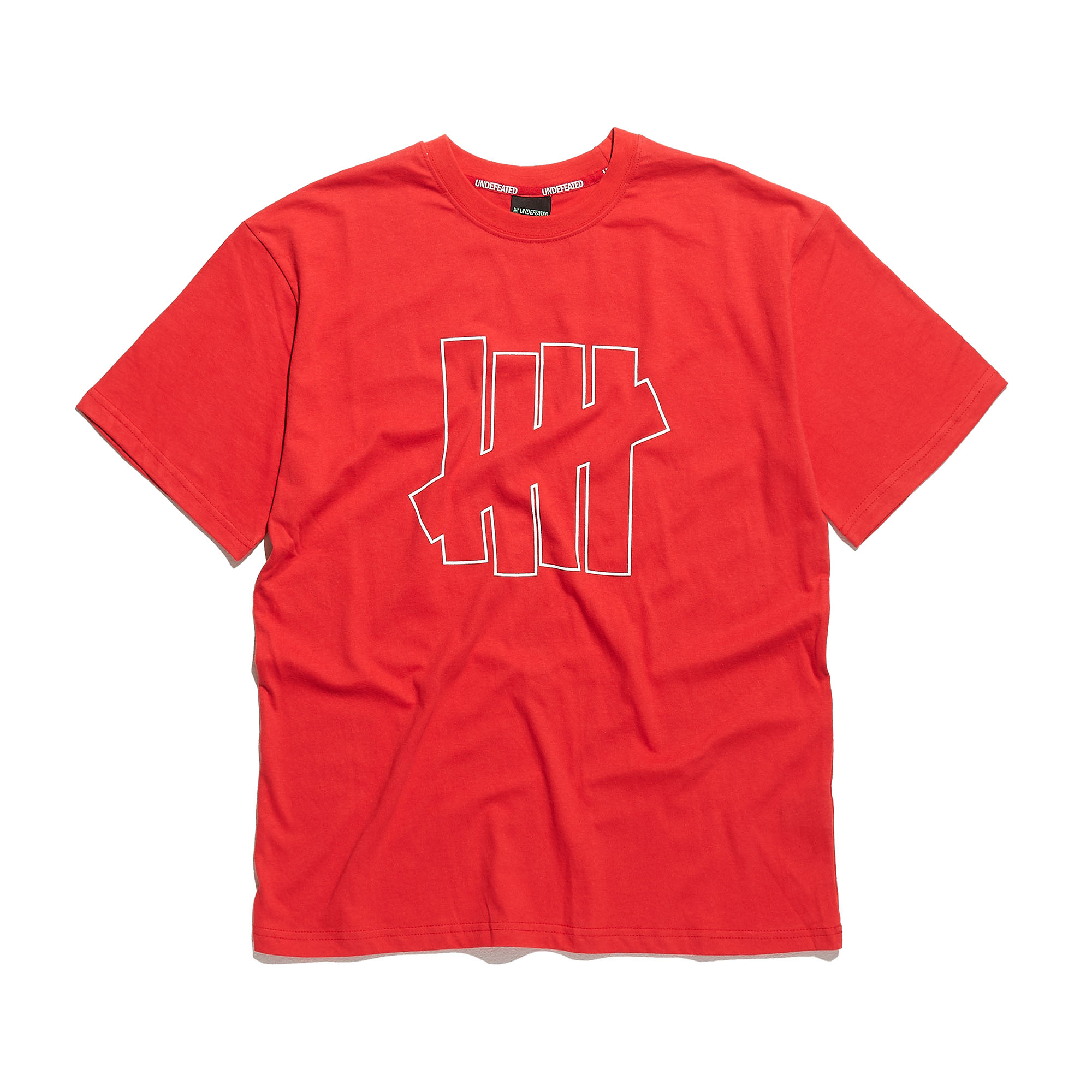 OUTLINE LOGO TEE red