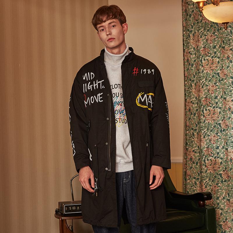 [단독할인][unisex] graffity military jumper (black)