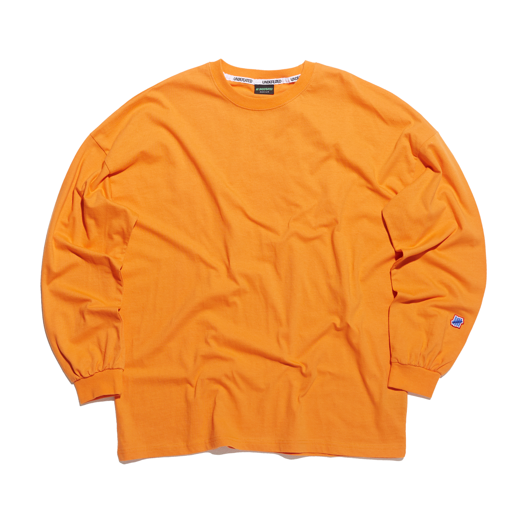 COLOR MINI LOGO LONG SLEEVE 2 orange