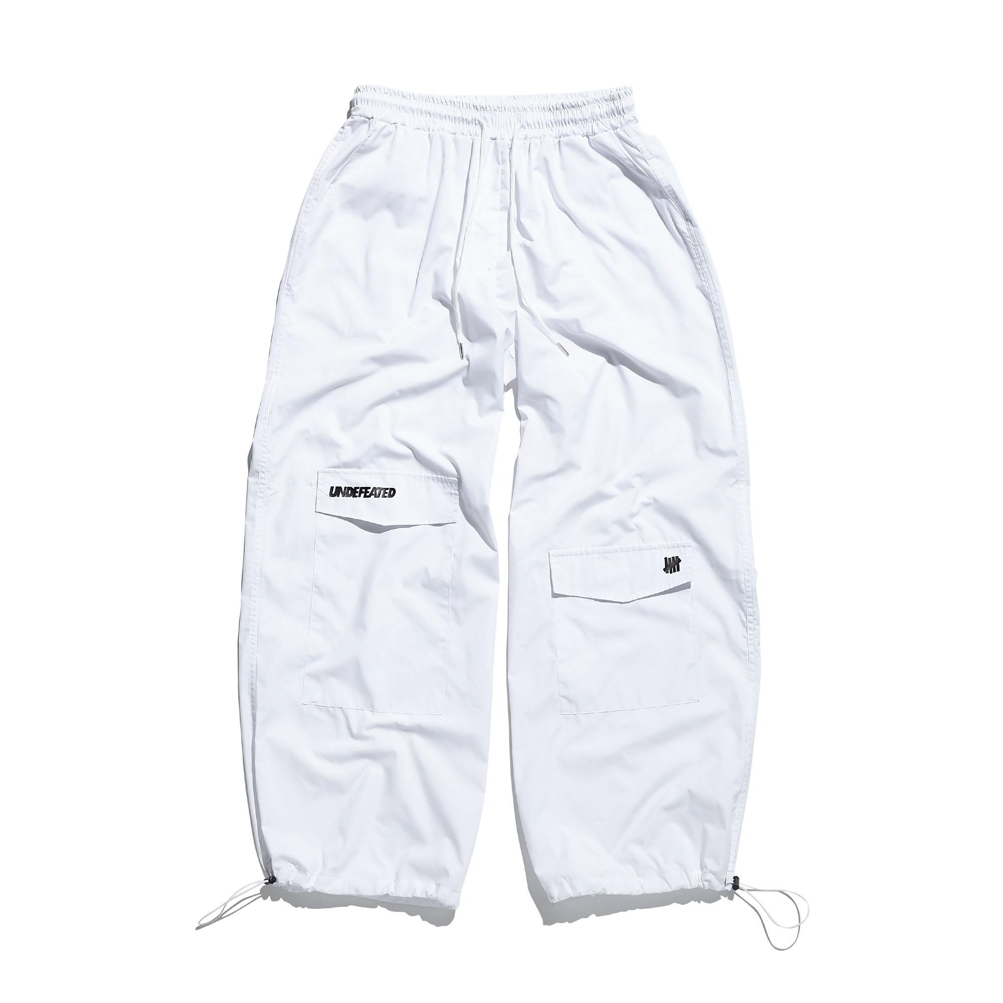 UNBALANCE WIDE STRING PANTS white